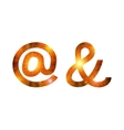 Set of signs at and ampersand firework vector