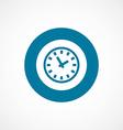 Time bold blue border circle icon vector