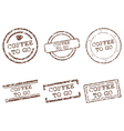 Coffee to go stamps vector