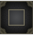 Luxury vintage invitation frame with ornament vector