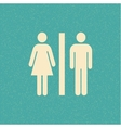 Restroom retro poster vector