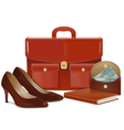 Businesswoman accessories vector