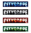Cityscape banners vector