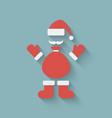 Santa claus design element vector