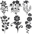 Flowers decorative vector