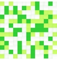 White and green mosaic seamless pattern vector