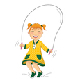Of a little girl doing skippin vector