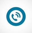 Call bold blue border circle icon vector