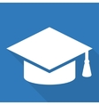 Academic cap icon study hat symbol vector