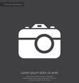 Photo camera premium icon white on dark background vector