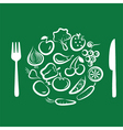 Vegetables for dinner vector
