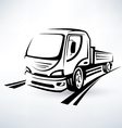 Van bulk cargo transport outlined sketch vector