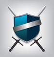Swords and shield vector