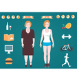 Infographic of fitness and sport vector