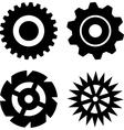 Black gears vector