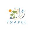 Travel design template vector