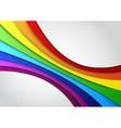 Colorful rainbow wave - perspective vector