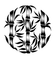 Decorative silhouette bamboo vector