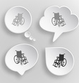Invalid chair white flat buttons on gray vector