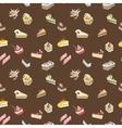 Brown sweet cake pattern vector