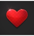 Beautiful red glossy heart vector
