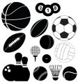 Balls silhouettes vector