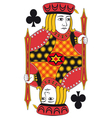 Jack of clubs no card vector