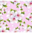 Seamless pattern background with sakura vector