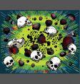 Cartoon skulls and stones vector