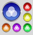 Color scheme icon sign round symbol on bright vector