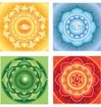 Bright abstract circle backgrounds mandalas of vector