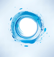 Abstract background blue water circle vector