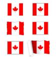 Canada flag set vector