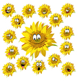 Sunflower cartoon vector