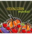 Vegetables organic food concept vector