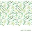 Ecology symbols horizontal frame seamless pattern vector