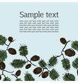 Background frame for text with fir cone and twig vector