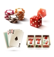 Casino design elements vector