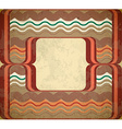60s styled grungy frame vector