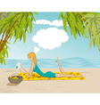 Beach woman vector