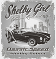 Shelby girl vector