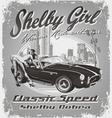Shelby girl vector