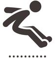 Long jump icon vector