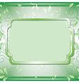 Green frame on floral background vector
