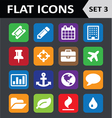 Universal colorful flat icons set 3 vector