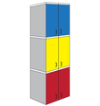 Tri color triple wardrobe vector