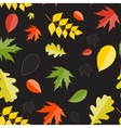 Shiny autumn natural leaves seamless pattern vector