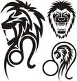 Zodiac signs - lion vinyl-ready set vector