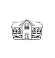 Sketch doodle house vector