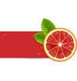 Fresh red orange vector